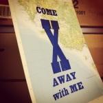 """Atlasüberdruckung """"COME AWAY with ME"""", pabuku.com"""